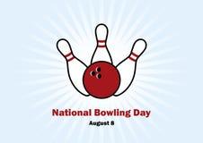 Nationell bowlingdagvektor Arkivfoto