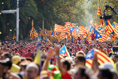 Nationell dag av Catalonia Arkivbilder