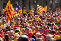 Nationell dag av Catalonia Fotografering för Bildbyråer