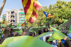 Nationell dag av Catalonia Royaltyfria Bilder
