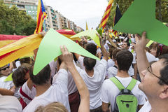 Nationell dag av Catalonia Arkivfoto