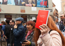 Nationell demonstration i service av Nino Di Matteo Royaltyfria Foton