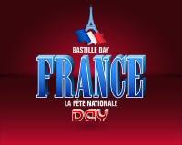 Nationell ferie av Frankrike, Bastilledag Royaltyfri Fotografi