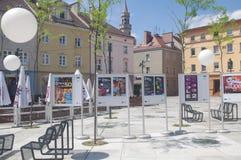 Nationell festival av polska sångaffischer Arkivbild