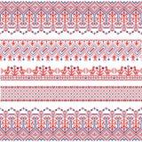 Nationell folk sömlös modell för vektor för textiler, vykort, bakgrund Arkivfoton