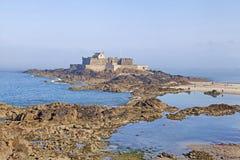 Nationell Fort, Sanktt Malo, Brittany, Frankrike Arkivbild