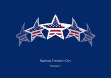 Nationell frihetsdagvektor Arkivbilder