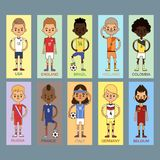 Nationell illustration för vektor för fotbollslag för eurokoppfotboll royaltyfri illustrationer