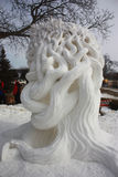 Nationell konkurrens för snöskulptur - sjöGenève, WI Royaltyfri Foto