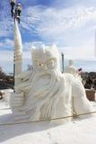 Nationell konkurrens för snöskulptur - sjöGenève, WI Arkivbilder