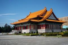 Nationell konserthall på minnes- Hall Square i Taipei arkivfoto