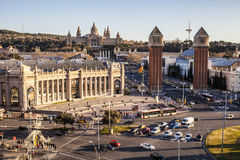 Nationell konstmuseum av Catalonia MNAC i Montjuic Royaltyfria Bilder