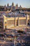 Nationell konstmuseum av Catalonia MNAC i Montjuic Royaltyfria Foton