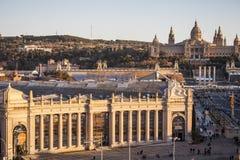 Nationell konstmuseum av Catalonia MNAC i Montjuic Royaltyfri Fotografi
