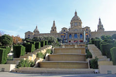 Nationell konstmuseum (MNAC) i Barcelona, Catalonia, Spanien Royaltyfri Bild