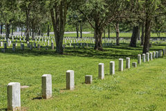 Nationell kyrkogård för stenflod i Murfreesboro Tennessee Royaltyfria Bilder