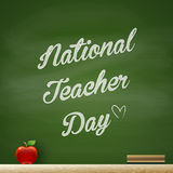 Nationell lärare Day royaltyfri illustrationer
