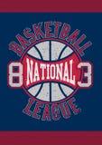 Nationell liga 83 för basket vektor illustrationer