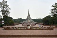 Nationell martyrminnesmärke av Bangladesh i Savar royaltyfri foto