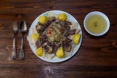 Nationell maträtt för Kazakh arkivbild