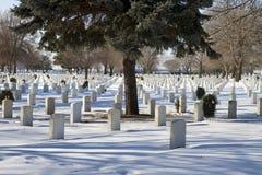 Nationell minnes- militär kyrkogård Fotografering för Bildbyråer