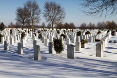 Nationell minnes- militär kyrkogård Royaltyfria Foton