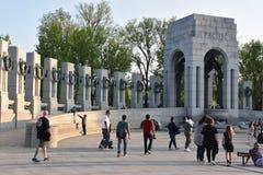Nationell minnesmärke för världskrig II i Washington, DC Royaltyfri Fotografi