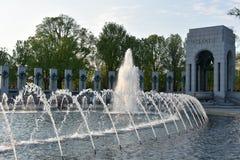 Nationell minnesmärke för världskrig II i Washington, DC Arkivfoto