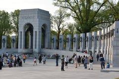 Nationell minnesmärke för världskrig II i Washington, DC Royaltyfria Bilder