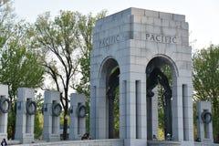 Nationell minnesmärke för världskrig II i Washington, DC Arkivbilder