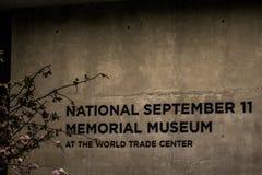 Nationell minnesmärke 9 11 New York City USA 25 05 2014 Fotografering för Bildbyråer
