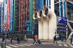 Nationell mitt för konst och kultur Georges Pompidou royaltyfri foto