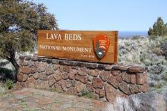 Nationell monument för lavasängar fotografering för bildbyråer
