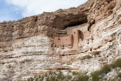 Nationell monument för Montezuma slott Arkivfoto