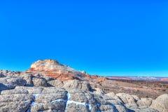 Nationell monument för vita Fack-Vermillion klippor Fotografering för Bildbyråer