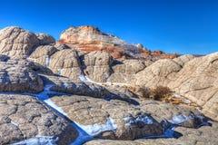 Nationell monument för vita Fack-Vermillion klippor Arkivfoto