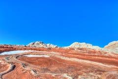Nationell monument för vita Fack-Vermillion klippor Royaltyfria Bilder