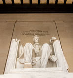 Nationell monument - Lincoln Memorial - Washington DC Arkivfoto