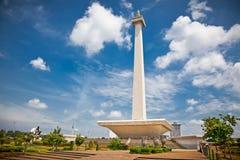 Nationell monument Monas. Merdeka fyrkant, Jakarta, Indonesien royaltyfri fotografi