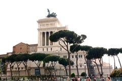 Nationell monument till Victor Emmanuel II Rome - Italien Royaltyfria Bilder
