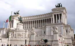 Nationell monument till Victor Emmanuel II Rome - Italien Arkivbild