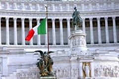 Nationell monument till Victor Emmanuel II Rome - Italien Arkivfoton
