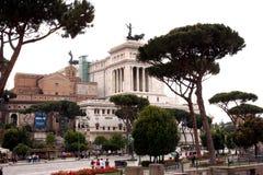 Nationell monument till Victor Emmanuel II Rome - Italien Royaltyfria Foton