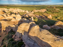 Nationell naturlig gränsmärke för sandliten vik Royaltyfria Bilder