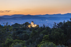 Nationell observatorium av Aten, Grekland Arkivbilder