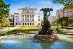 Nationell operahus, Riga, Lettland fotografering för bildbyråer