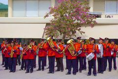 Nationell orkester i Heraklion, Kreta Royaltyfri Foto