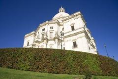 Nationell panteonLissabon Portugal barock katolicism, kyrkan av jultomtenengrá CIA royaltyfria foton