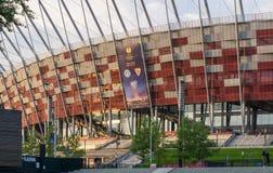 nationell poland stadion warsaw Arkivfoton