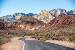 nationell röd rock för områdeskanjonbeskydd Arkivbild